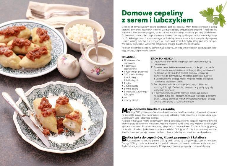 Domowe cepeliny z serem i lubczykiem